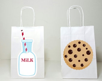 Milk and Cookies Goody Bags, Milk and Cookies Favor Bags, Milk and Cookies Gift Bags, Milk and Cookies First Birthday, 1st Birthday