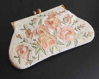 Vintage Austrian embroidered evening bag