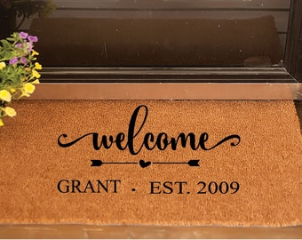 Personnalized Welcome Doormat