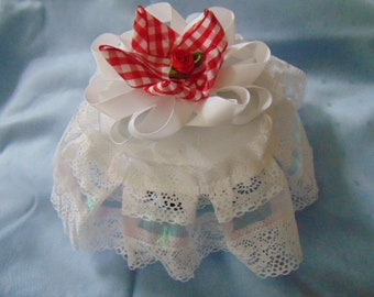 lace jug cover keep the flies away from your food hotels-guest houses-cafes-bed and breakfast kitchen country shabby chic