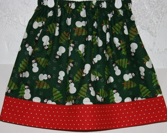 Snowmen  Skirt  Size 2 to 8