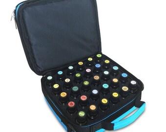 42 Holes Double Zipper Portable Essential Oils Storage Carrying Case