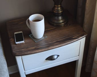 Farmhouse Inspired End Table / Night Stand