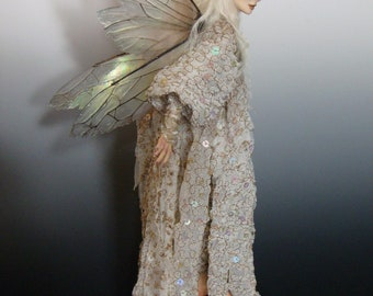 """Art Doll Fairy, """" TANNITH"""", an OOAK (One of a Kind Art Doll) sculpture by Victoria Mock"""