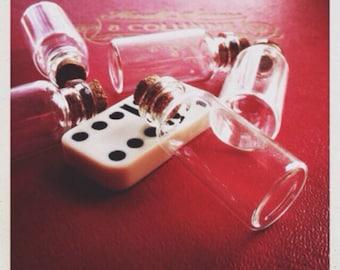 glass vials with cork - 10  destash size D