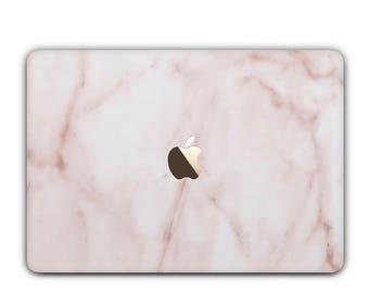 Pêche marbre cas de MacBook, MacBook Air, MacBook rétine, Pro, Pro 2016, Pro Retina, 11, 12, 13, 15 et unique design marbre marbre rose étui dur