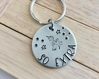"So Extra~Aluminum LIGHT WEIGHT~ Small 1.125"" Key Chain"