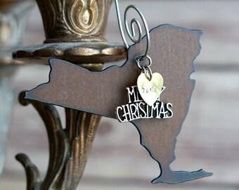 NEW YORK Christmas Ornament, New York Ornament, Christmas Gifts 2018 Christmas Ornaments New York Ornaments New York gift Personalized Gift