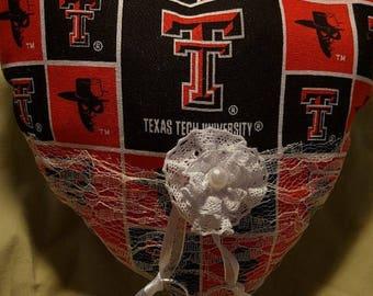 Red Raiders Ring Bearer Pillow