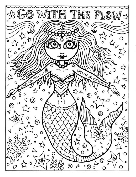 print out mermaid coloring pages - photo#8