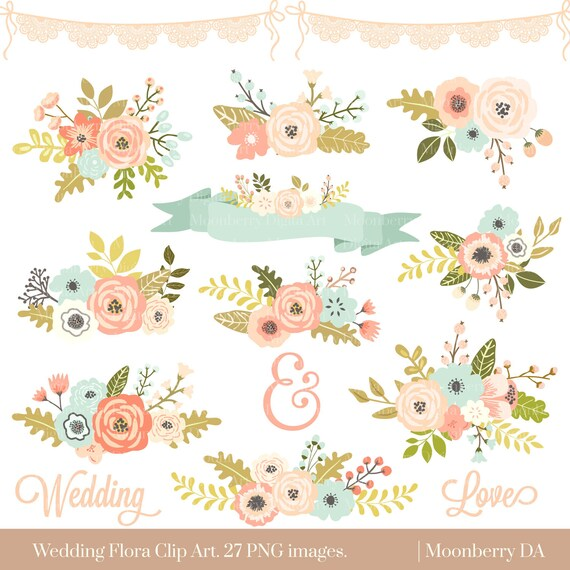 Clipart Flowers Wedding Invitation Clipart Flowers
