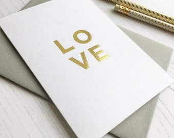 Love Gold Foil Card