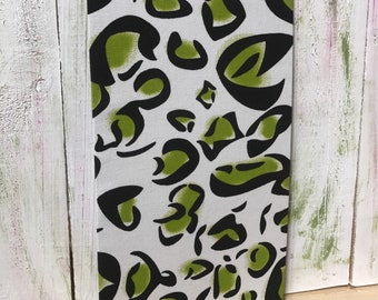 Cubicle or Fridge Magnetic Board, File Cabinet Magnet Board,  Fridge Magnet, Locker Organizer, Lime Green Kenya Fabric,  Magnet Recipe