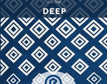 Diamond in the Deep quilt pattern by Bonjour Quilts Kirsty Cleverly