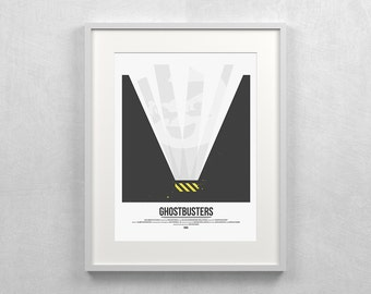 Ghostbusters ~ Bill Murray, Ghost, Minimalist Poster, Gifts for Him, Fathers Day Gift, Art Print, Wall Art