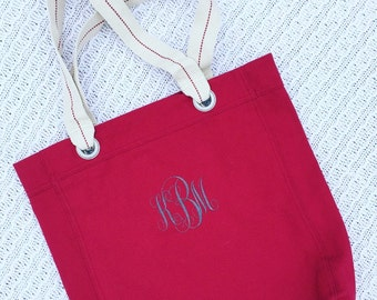Personalized Canvas Tote- Monogrammed Tote Bag- Embroidered Bag
