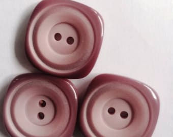 DILL 25MM pink plastic buttons