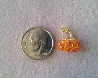 Mini Silverlined Orange/Silverlined Gold Baguette