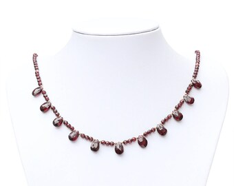 Garnet gemstone necklace.