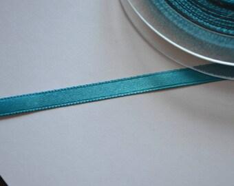 6 mm bright turquoise blue satin ribbon