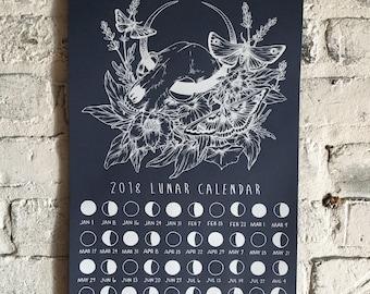 2018 Lunar Calendar- Indigo