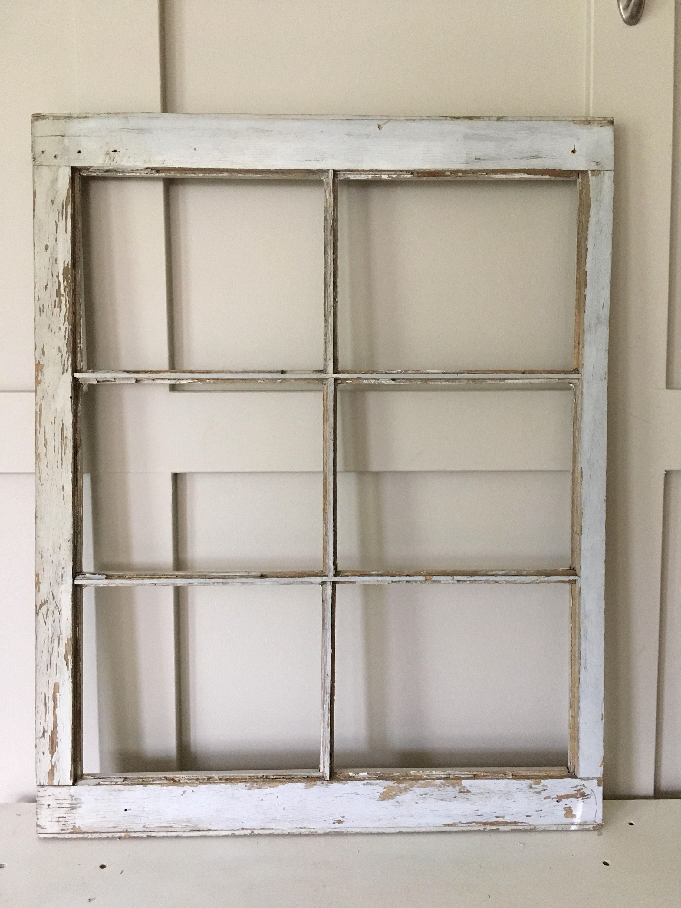 Distressed Rectangular Window Frame, Old Chippy Wooden Window Frame ...