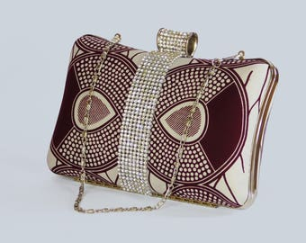 African print clutch bag set Ankara clutch bag Box clutch Tribal clutch bag, Custom made Bag Clutch Bag Accessories Gift