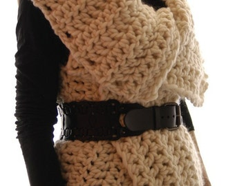 Instructions to make: Magnum Reversible Vest/Wrap (crochet) PDF Pattern