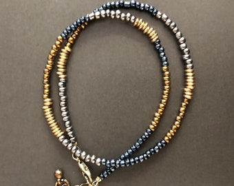 Convertible Women's Beaded Necklace Bracelet