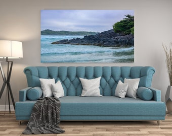 Cloudy Afternoon in Tofino, British Columbia Print and Canvas, Tofino Canvas, Tofino Wall Art, Ocean Canvas, British Columbia Wall Art