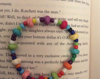 Rainbow Hand-beaded bracelet