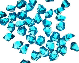Vase Fillers 4 lbs Table Scatters Acrylic Ice Sea Blue - Approximately 750 pcs