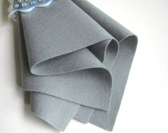 Grey Felt, Large Felt Sheet, Pure Merino Wool, DIY Craft Supply, Felt Fabric, Nonwoven Material, Wool Applique, Felt Pattern Supply