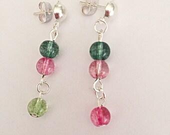 Tourmaline Earrings - Gemstone Earrings - Colourful Earrings - Dangly Earrings - Spiritual Jewelry