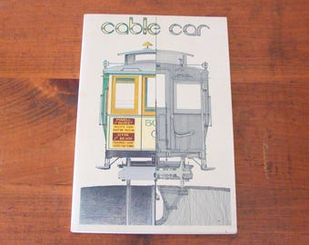 1973 Cable Car, As It Is, How It Works, As It Was, San Francisco Cable Car Paperback, Lots of Photos!