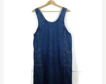 ON SALE Vintage Denim Sleeveless Long Dress/Causal Dress from 90's