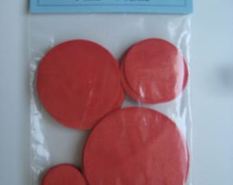 Circles 24 Orange Ultrasuede