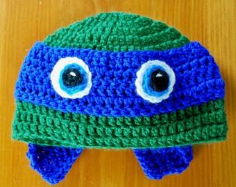 Ninja Turtle Hat, Ninja Turtle Inspired Hat, Photo Prop, Baby Hat, Winter Hat, Christmas Gift Idea, Baby Shower Gift Idea, Newborn to Adult