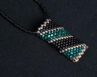 Diagonal Striped Amulet Bag