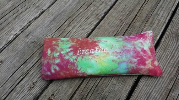 Tie Dye Yoga Eye Pillow / Breathe Eye Pillow with tie dye cover / yoga accessories / Meditation Eye Pillow/ Yoga gift