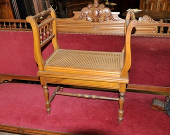 Antique  French Bench Vintage European Potty Chair #5568