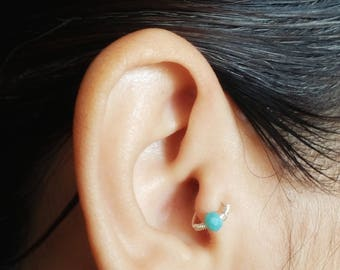 Faux Tragus Ring - Cartilage Earring - Tragus Ring - Faux Piercing - Tragus Piercing - No Piercing Jewelry - 10mm Tragus Ring