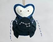 Constellation Ornament Felt Owl, Big Dipper URSA MAJOR, Astronomy Gift Galaxy Christmas Ornament Plush by OrdinaryMommy on Etsy