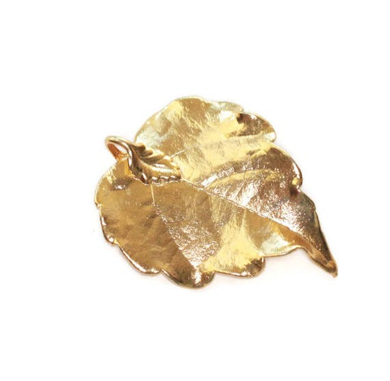24K Gold Dipped Leaf for Jewelry or Crafting