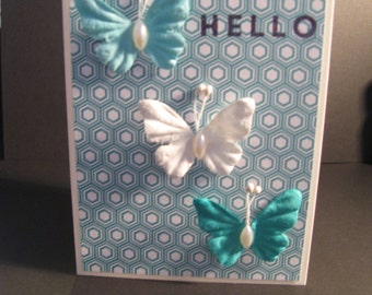 Hello Butterfly -  Greeting Card