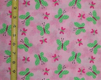 Butterflies (Pink), Fabric Quilting Crafting Home Decor