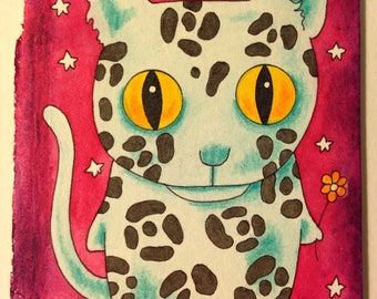 Laloo the Cat Original Painting ACEO