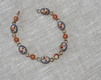 Italian micro mosaic bracelet
