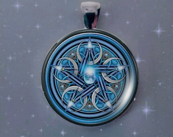 Hecate, Hecate Pentagram, Protective Symbol, Hecate Coin Symbol, Crescent Moon, Pentagram Pentacle.