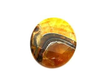 Simbircite with pyrite natural stone cabochon  40 х 33 х 6 mm